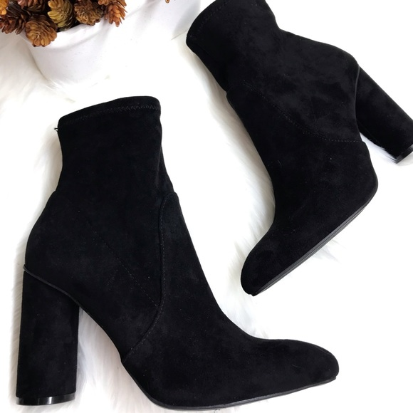 efae11d272a 💰Firm A New Day™ | Norma Faux Velvet Heel Bootie NWT